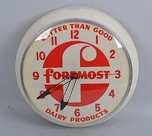 Foremost Dairy Products Clock.