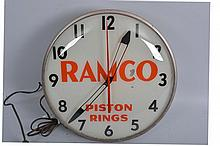 Ramco Piston Rings Light Clock.