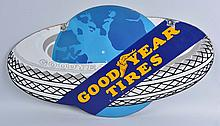 Hard to Find Goodyear's Tires Die Cut Sign.