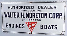 Walter Moreton Authorized Dealer Engines Sign.
