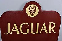Jaguar Sales and Service Die Cut Sign.