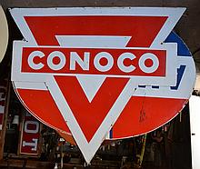 Conoco Identification Die Cut Sign.