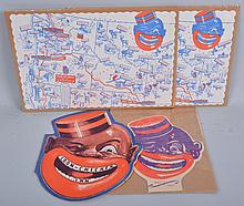 Coon-Chicken Inn Menu, Placemats, and Hand Fan.