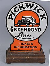 Pickwick Greyhound Lines Sign.