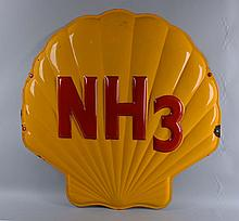 Shell NH3 Single Sided Porcelain Sign.