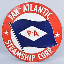 Pan-Atlantic Steamship Corp Sign with Logo.
