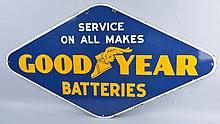 Goodyear Batteries Sign.