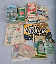 Large Lot of Conoco Paper Items.