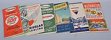 Lot of 9: Road Maps.