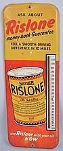 Rislone by Shaler Tin Thermometer.