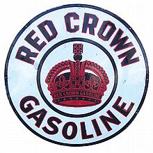 Red Crown Gasoline Sign.