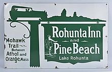 Rohunta Inn & Pine Beach Sign.
