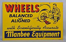 Manbee Equipment Wheels Balanced & Aligned Sign.