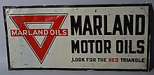Marland Motor Oils Embossed Sign.