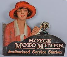 Boyce Moto Meter Tin Flange Sign.