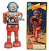 Tin Litho WInd-up Moon Astronaut.