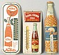 Lot of 3: Tin Soda Thermometers.