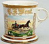 Horse-Drawn Open Wagon Shaving Mug.
