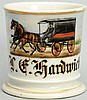Horse-Drawn Enclosed Wagon Shaving Mug.