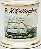 Three Masted Schooner Boat Shaving Mug.