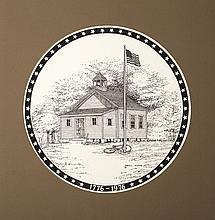 **Etching** Darell Koons - A Country School House : Bicentennial Commemorative