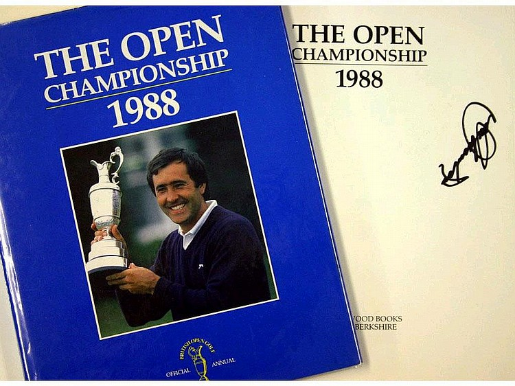 Sporting Memorabilia - Golf: 1988 signed Open