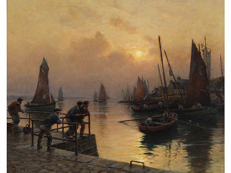 GEORGES PC MARONIEZ (1865-1933) Oil Painting