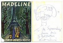 Ludwig Bemelmans Signed & Hand-Drawn Elephant Sketch Upon His Classic ''Madeline'' Book