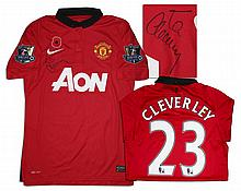 Tom Cleverley Match Worn Manchester United Shirt Signed
