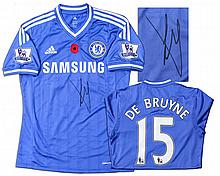 Kevin De Bruyne Match Worn Chelsea Football Shirt Signed