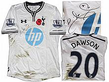 Tottenham Hotspur Football Shirt Match Worn and Signed by Michael Dawson