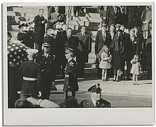 Rare Photo of John F. Kennedy, Jr. Saluting His Father's Horse-Drawn Flag-Draped Casket
