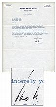 John F. Kennedy Typed Letter Signed From 1954 -- ''...in the case of Louis Scorperotti who is desirous of having his brother, Giuseppe Scaparrotta come to the United States from Italy...''