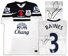 Leighton Baines Match Worn Everton Football Shirt Signed