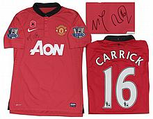 Michael Carrick Manchester United Match Worn Shirt Signed
