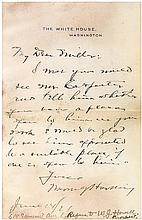 Rare Warren Harding Autograph Letter Signed as President