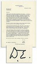 Eisenhower Letter Signed Regarding Threatening Letters to Him: ''...'If you are so cowardly...as to agree...to this atrocious amendment, I shall regard you as practically a traitor'...''