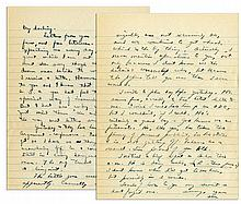 Dwight Eisenhower Autograph Letter Signed During WWII -- ''...Yesterday and today have been hard ones on me...I get so I have no thought except crawling off in a corner + keeping still...''