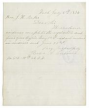 Belva Lockwood Autograph Letter Signed -- One of The First Female Attorneys & Candidates To Run For President