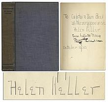Helen Keller, Annie Sullivan & Polly Thompson Signed & Inscribed Book, ''Midstream: My Later Life''