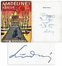 Ludwig Bemelmans Hand-Drawn Sketch & Signed Inscription Within His Popular Book, ''Madeline's Rescue''