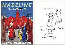 Ludwig Bemelmans ''Madeline in London'' Signed -- With Beautiful Hand Drawn Sketch of a Child on a Horse