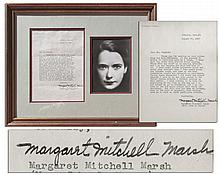 'Gone With The Wind'' Author Margaret Mitchell Typed Letter Signed -- ''...I have heard hotter arguments about who shall play Scarlett than I ever heard about the Supreme Court...''