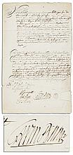 William Penn Document Signed -- Regarding a Financial Agreement Circa 1707