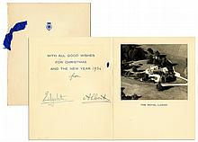 King George VI & Queen Mother Elizabeth Signed 1935 Christmas Card