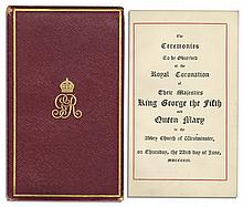 King George & Queen Mary Coronation Booklet