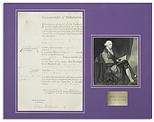John Hancock Document Signed During The American Revolution