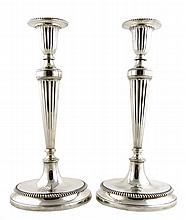 Pair of Elegant Tiffany & Co. Sterling Silver 15'' Candlesticks