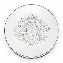Silver Royal Seal Lidded Box in King George III Style