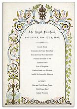 Royal Luncheon Menu From Queen Victoria's Diamond Jubilee in 1897
